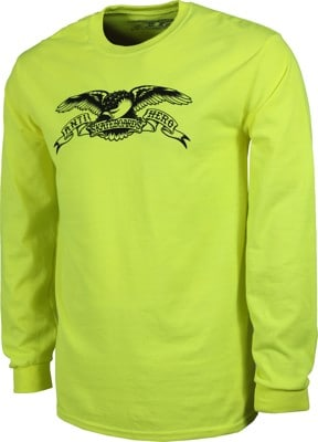 Anti-Hero Basic Eagle L/S T-Shirt - safety green - view large