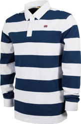 Krooked Eyes L/S Polo Shirt - navy/white