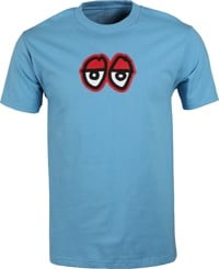 Krooked Eyes LG T-Shirt - carolina blue/red
