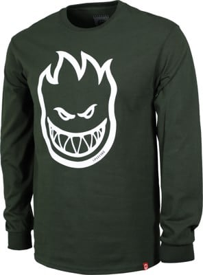 Spitfire Bighead L/S T-Shirt - forrest green/white - view large