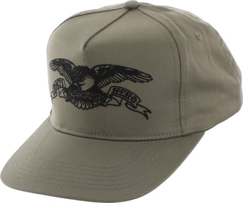 Anti-Hero Basic Eagle Snapback Hat - khaki/black - view large