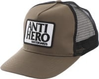 Anti-Hero Reserve Patch Trucker Hat - brown/black