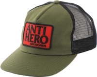 Anti-Hero Reserve Patch Trucker Hat - olive/black