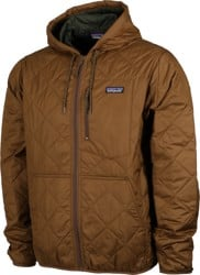 Patagonia Diamond Quilt Bomber Hoody Jacket - owl brown