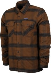 Patagonia Insulated Fjord Flannel Jacket - burl wood: owl brown