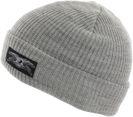 Anti-Hero Stock Eagle Label Cuff Beanie - heather grey - view large