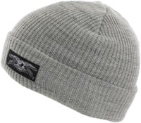 Anti-Hero Stock Eagle Label Cuff Beanie - heather grey