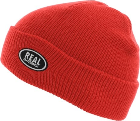Real Oval Beanie - red/grey - view large
