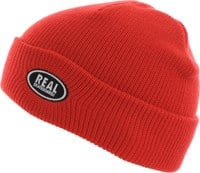 Real Oval Beanie - red/grey