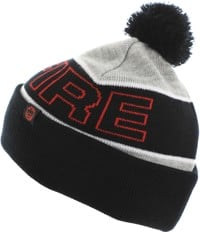 Spitfire Classic 87' Pom Beanie - heather grey/black/red