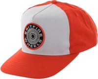 Spitfire Classic 87' Swirl Unstructured Snapback Hat - orange/white