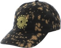 Spitfire Classic 87' Swirl Strapback Hat - black bleached/yellow