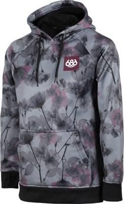 686 Cora Bonded Fleece Hoodie - charcoal x-ray floral - view large