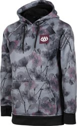 686 Cora Bonded Fleece Hoodie - charcoal x-ray floral