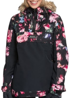 Roxy Shelter Insulated Jacket - true black blooming party - view large