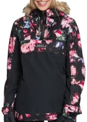 Roxy Shelter Insulated Jacket - true black blooming party