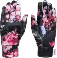 Roxy Hydrosmart Liner Gloves - true black blooming party