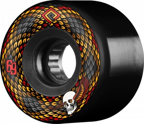 Powell Peralta Snakes Cruiser Skateboard Wheels - black v2 (75a) - view large