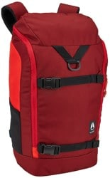 Nixon Hauler 25L Backpack - burgundy/fire
