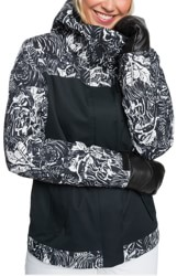Roxy Jetty Block Insulated Jacket - true black tiger camo