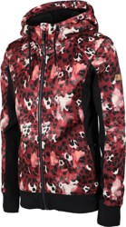 Roxy Frost Printed Hoodie - oxblood red leopold