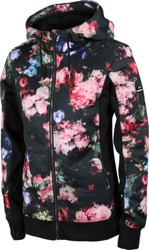 Roxy Frost Printed Hoodie - true black blooming party