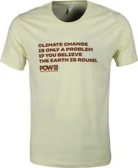 Protect Our Winters Climate Change Is Only A Problem T-Shirt - yellow