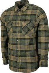 Brixton Bowery Flannel - evergreen