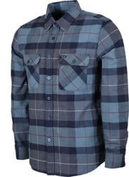 Brixton Bowery Flannel - navy/carolina blue