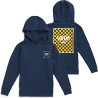 Vans Kids Print Box Hoodie - dress blues/lemon chrome checkerboard