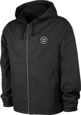 Brixton Claxton Oath Hooded Jacket - black/white - view large
