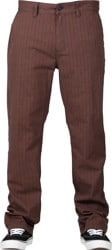 Brixton Choice Chino Pants - brown/navy plaid