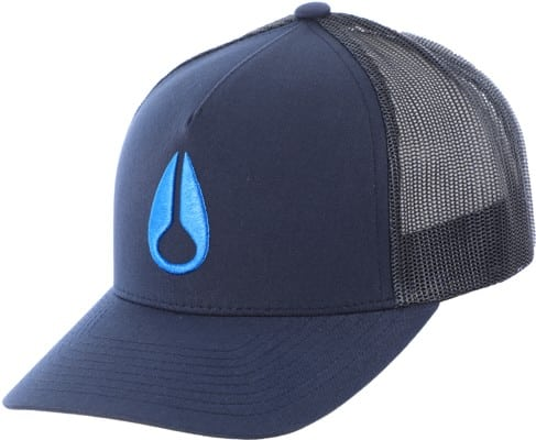 Nixon Iconed Trucker Hat - navy/blue - view large
