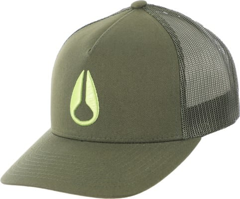 Nixon Iconed Trucker Hat - olive - view large