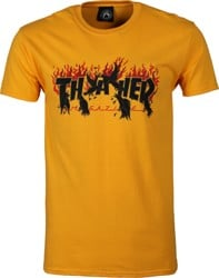 Thrasher Crows T-Shirt - gold