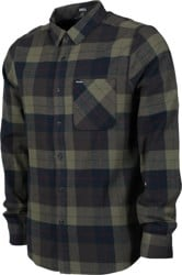 Volcom Caden Plaid Flannel Shirt - army green combo