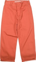 Dickies Women's Work Crop Roll Hem Pants - auburn