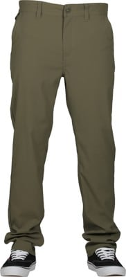Brixton Choice Chino Taper X Pants - military olive - view large