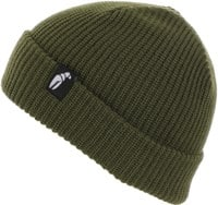 Crab Grab Claw Label Beanie - army green