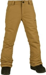 Volcom Kids Freakin Snow Chino Snowboard Pants - burnt khaki