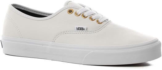 Vans Authentic Skate Shoes - (leather) true white/true white - view large