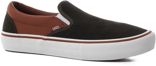Vans Slip-On Pro Shoes - (heavy twill) olive/henna - view large