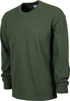 Polar Skate Co. Shin Waffle Knit L/S T-Shirt - hunter green - view large