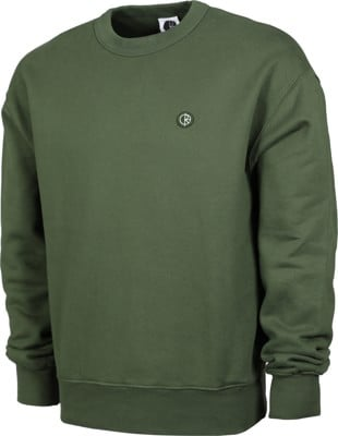 Polar Skate Co. Patch Crew Sweatshirt - hunter green - view large
