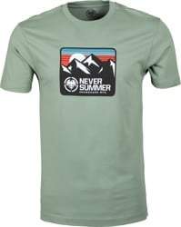Never Summer Retro Mountain T-Shirt - artichoke green