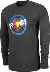 Never Summer Eagle Colorado L/S T-Shirt - charcoal heather