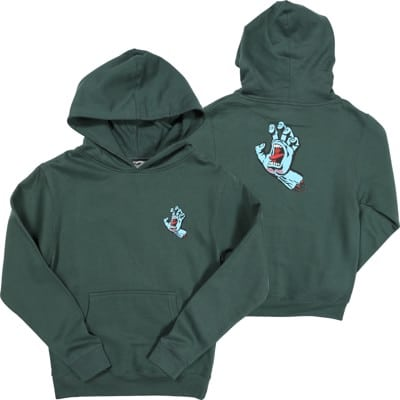 Santa Cruz Kids Screaming Hand Hoodie - alpine green - view large