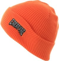 Creature Logo Outline Beanie - orange