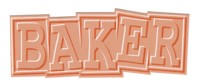 Baker Ribbon Logo Sticker - peach