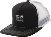 Creature Support Label Trucker Hat - black/white